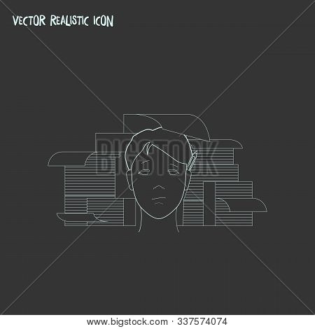 Hardworking Icon Line Element. Vector Illustration Of Hardworking Icon Line Isolated On Clean Backgr