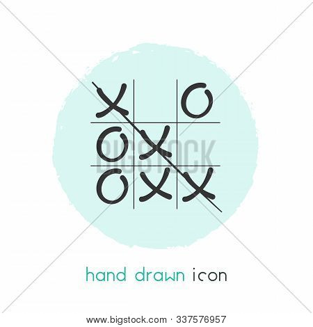 Tic Tac Toe Icon Line Element. Vector Illustration Of Tic Tac Toe Icon Line Isolated On Clean Backgr