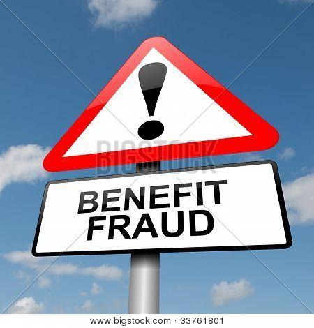 Concepto de fraude de beneficio.