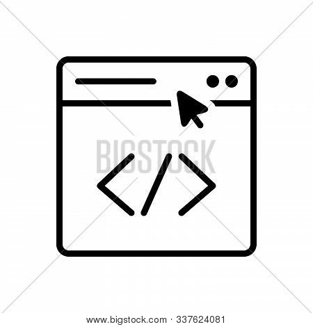 Black Line Icon For Submit Link Submission Building Page