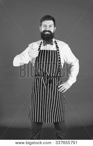 Giving His Approval. Bearded Man Giving Thumbs Up Approval Hand Gesture. Hipster Gesturing Approval