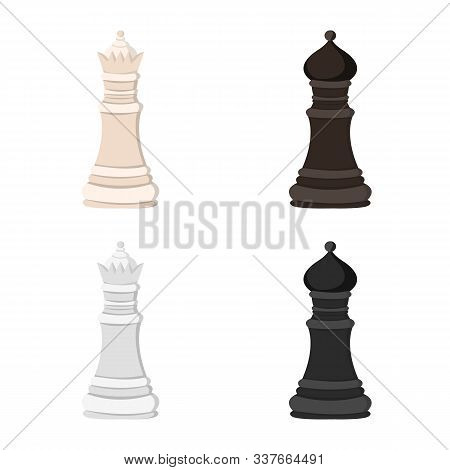 Vector Illustration Of Checkmate And Thin Icon. Set Of Checkmate And Target Stock Symbol For Web.