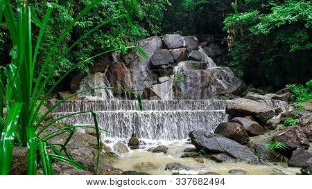 Kathu Waterfall In Beautiful Rain Forest In Kathu District, Phuket, Thailand