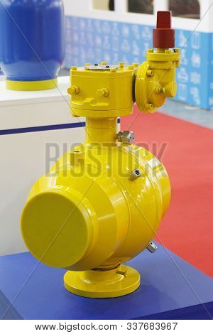 The Main Fragment Of A Welded Ball Valve. All-welded Ball Valve For The Oil, Chemical, Metallurgical
