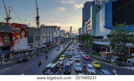 Bussy Road Near Siam Square At Evening In Bankok, Thailnad, 25/11/2019