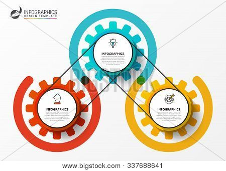 Infographic Design Template. Creative Concept With 3 Steps. Can Be Used For Workflow Layout, Diagram
