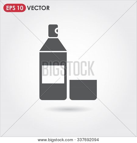 Spray Paint Single Vector Icon On Light Background