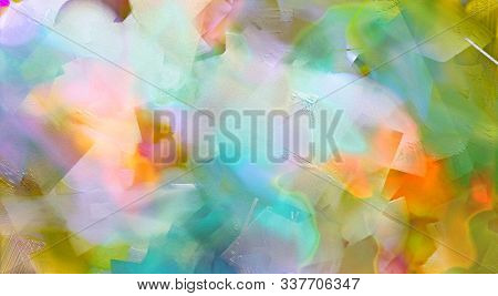 Abstract Painting. Colorful brush strokes. 3D rendering