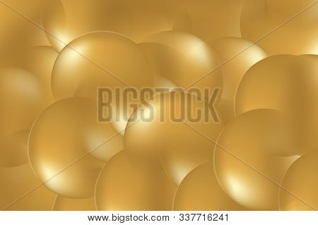 Background From Abstract Yellow Circles Or Balls Similar To Flickering Lights In Defocus.