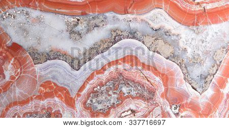 Beautiful Gemstone Agate Texture Detail, Close Up, Minerals In The Territory Of Europe