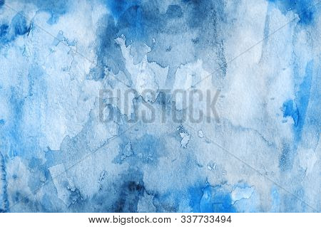 Watercolor Abstract Background. Grunge Light Pink, Purple And Sky White Watercolor Background. Water