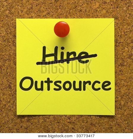 Outsource Note Showing Subcontracting Suppliers And Freelance