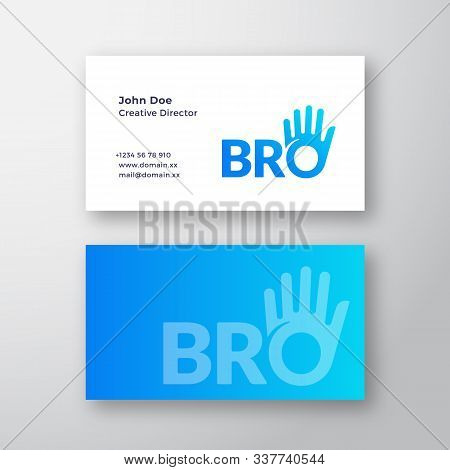 Bro Or Brother Abstract Vector Sign Or Logo And Business Card Template. Brotherhood Or Team Letterin