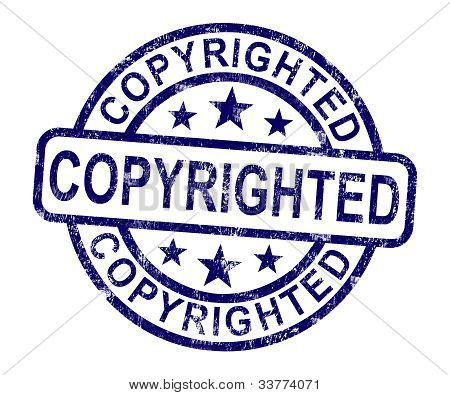 Copyrighted Stamp Showing Patent Or Trademark