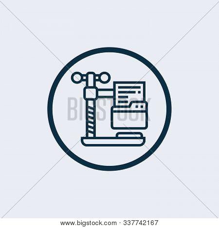 Data Compression Concept Line Icon. Simple Element Illustration. Data Compression Concept Outline Sy