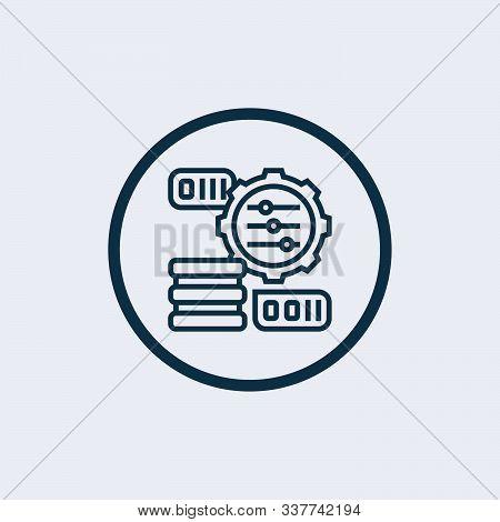 Horizontal Adjustment Icon Isolated On White Background. Horizontal Adjustment Icon In Trendy Design