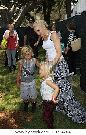 LOS ANGELES, CA - JUN 3: Gwen Stefani, sons Kingston, Zuma at the 23rd Annual 'A Time for Heroes' Celebrity Picnic on June 3, 2012 in Los Angeles, California