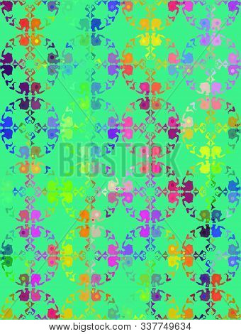 Summer Multicoloured Floral Pattern With Jasmine Flowers And Field Plants. Seamless Vector. Botanica