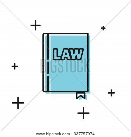 Black Law Book Icon Isolated On White Background. Legal Judge Book. Judgment Concept. Vector Illustr