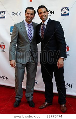 NEW YORK-MAY 31: Retired NHL players Peter and Chris Ferraro attend the 4th annual Tuck�s Celebrity Billiards Tournament on May 31, 2012 in New York City.
