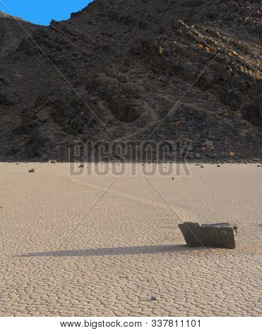 Racetrack Playa In Death Valley National Park, California Usa