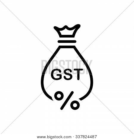 Black Line Icon For Gst Exemption Save Tax