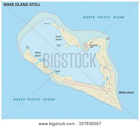 Map Of The Wake Island Atoll An Unorganized Territory Of The United States