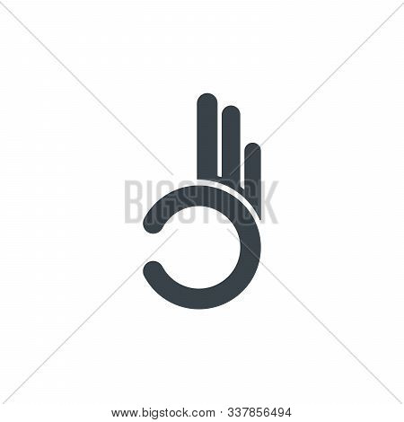 Gesture Okay Line And Glyph Icon, E Commerce And Marketing, Best Choice Sign Vector Graphics, A Line