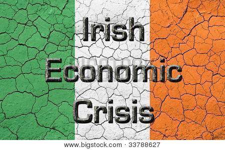 Ireland Economic Crisis Flag