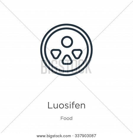 Luosifen Icon. Thin Linear Luosifen Outline Icon Isolated On White Background From Food Collection.