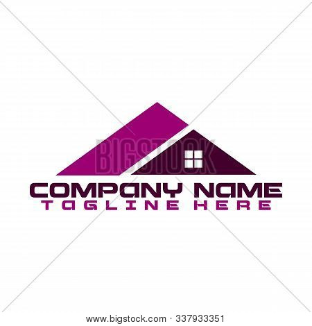 Real Estate Vector Logo Design, Eco Real Estate Logo, Tree With Real Estate Logo, Building Logo Desi