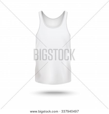 Women Crew-neck T-shirt Or Active Wear Top Template Vector Illustration Isolated.