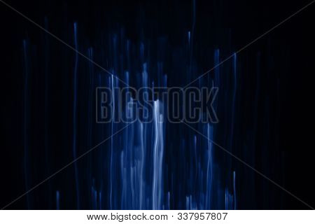 Trend Color 2020 Classic Blue, Layout For Design. Fabulous Blurry Light Effect. Bright Lines From Th
