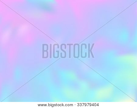 Hologram Effect Glitch Gradient Vector Design. Elegant Pastel Rainbow Unicorn Background. Hologram C