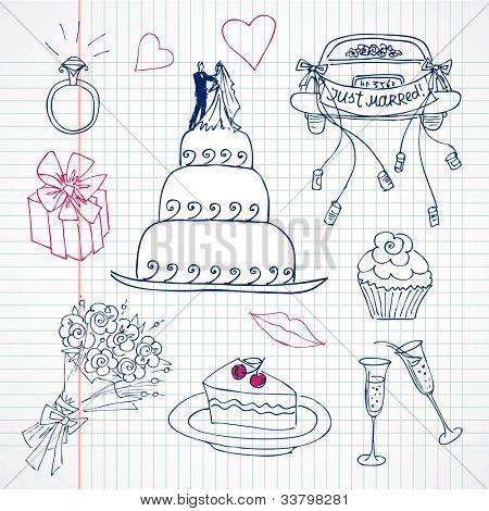 Cute Wedding doodles