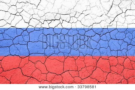 Cracking Russian Flag
