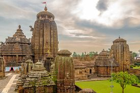 View At The Lingaraja Temple Complex In Bhubaneswar - Odisha, India