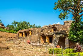View At The Khandagiri And Udayagiri Caves Complex In Bhubaneswar - Odisha, India
