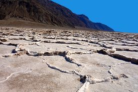 Salt Flats In Badwater Basin, Death Valley, California, Usa
