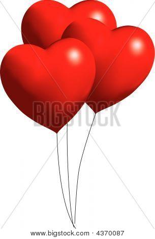 Heart Ballloons Vector