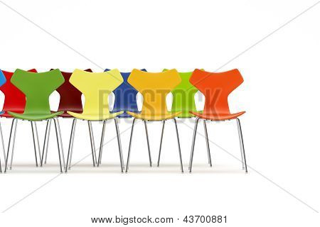 Chairs With Color Concept