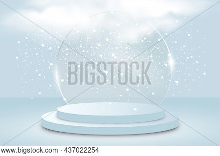 Background Vector 3d Blue Rendering With Stage Product And Minimal Blue Wall Scene, Minimal Product