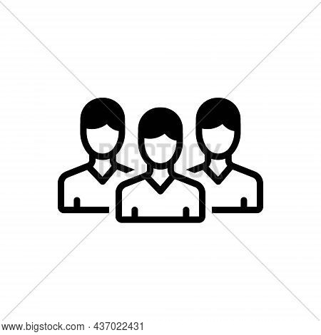 Black Solid Icon For Peers Associate Partner Fellow Friends Team Group