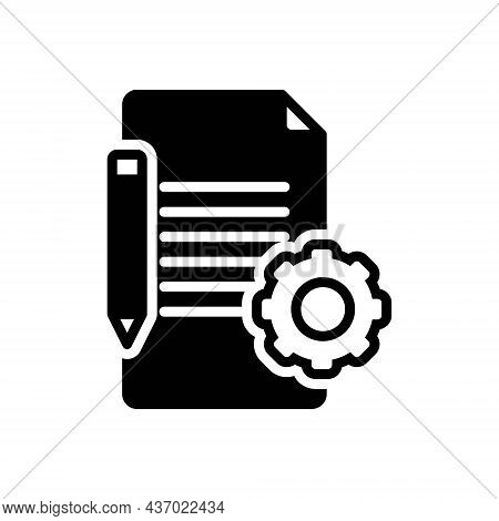 Black Solid Icon For Prerequisite Condition Stipulation Term Checklist Assignment