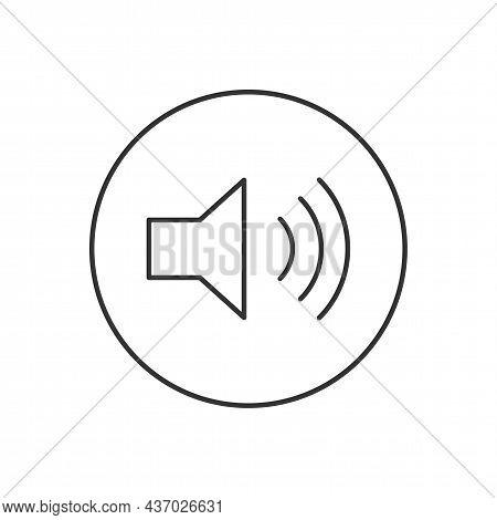 Audio Speaker Volume Related Line Vector Icon For Apps And Websites. Speaker Sign. Volume Symbol. Lo
