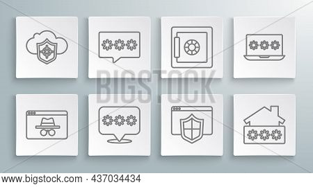 Set Line Browser Incognito Window, Password Protection, With Shield, House Password, Safe, Laptop An