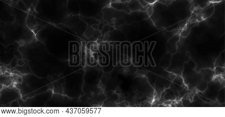 Black Marble Background Texture. Vector Illustration. Marbling Stone Pattern For Luxury Poster Desig