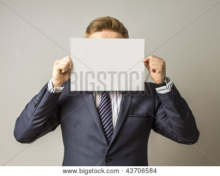 Hiding man try to give a message