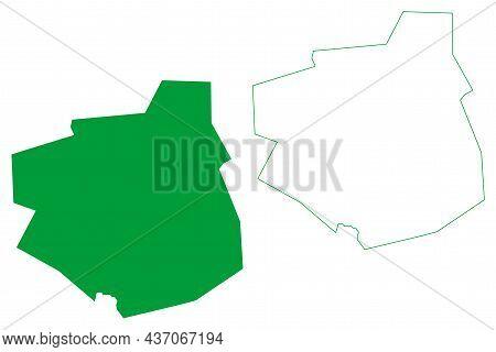 Botupora Municipality (bahia State, Municipalities Of Brazil, Federative Republic Of Brazil) Map Vec