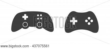 Joystick Video Game Controller Icon. Play Console Or Joypad In Flat Design. Gamepad For Computer Gam